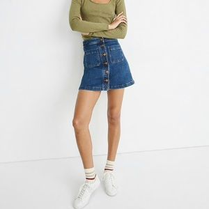 Madewell Stretch Denim Size 0 A-Line Skirt